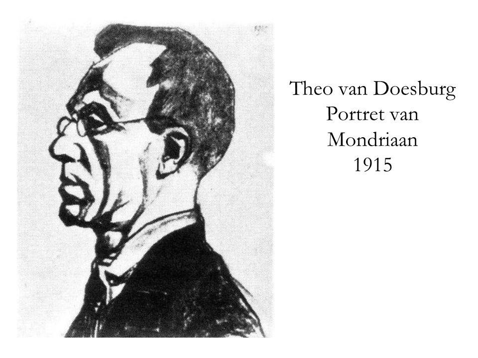 Theo van Doesburg Portret van Mondriaan 1915