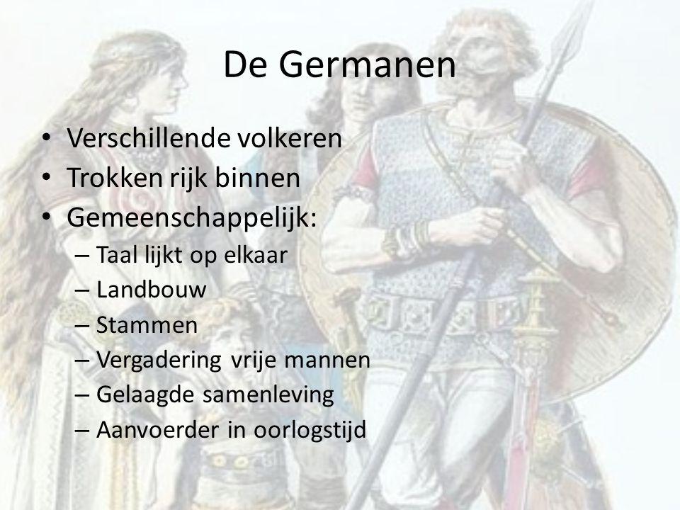 De Germanen Verschillende volkeren Trokken rijk binnen