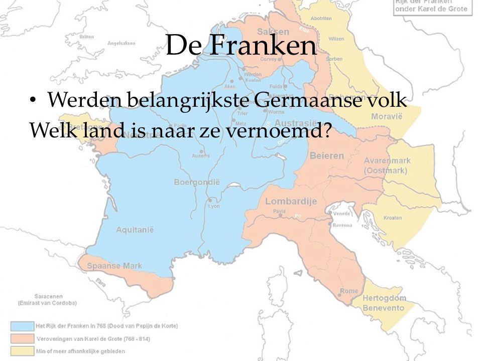 De Franken Werden belangrijkste Germaanse volk