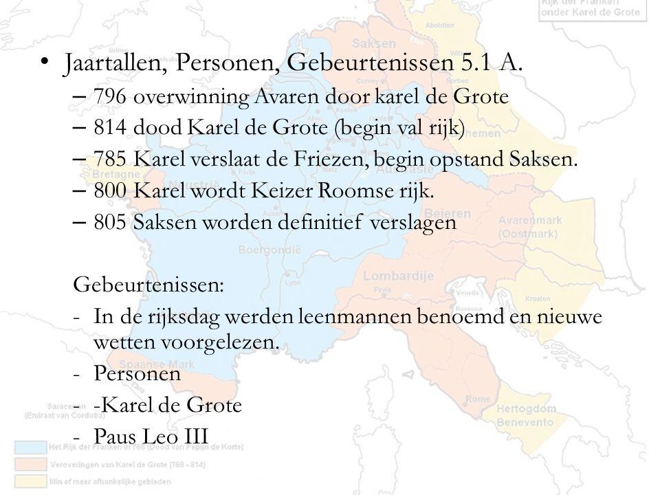 Jaartallen, Personen, Gebeurtenissen 5.1 A.