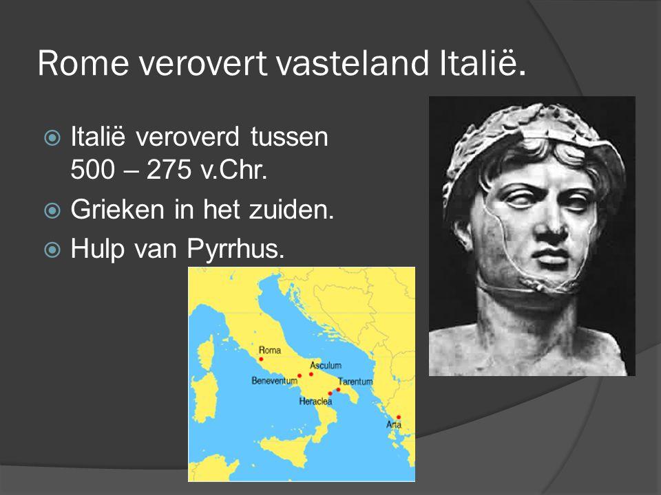 Rome verovert vasteland Italië.