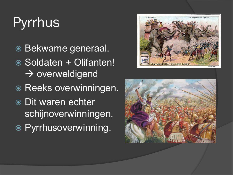 Pyrrhus Bekwame generaal. Soldaten + Olifanten!  overweldigend