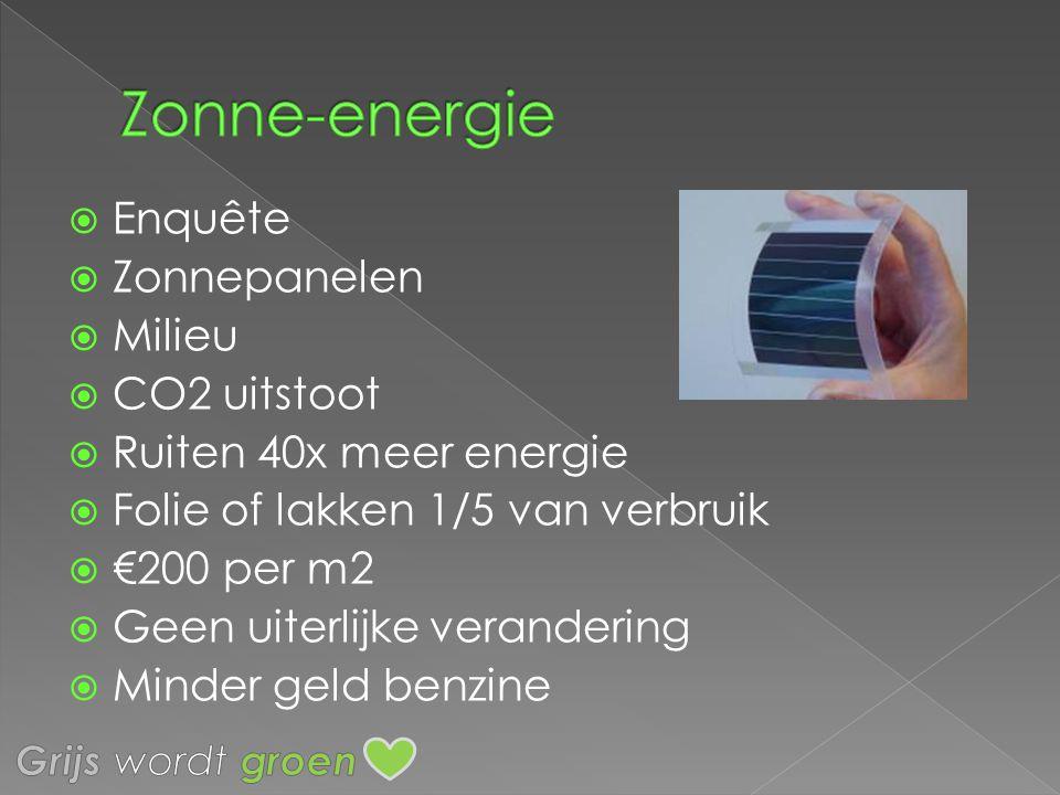 Zonne-energie Enquête Zonnepanelen Milieu CO2 uitstoot