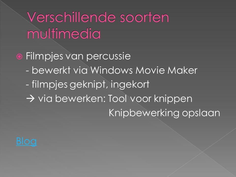 Verschillende soorten multimedia