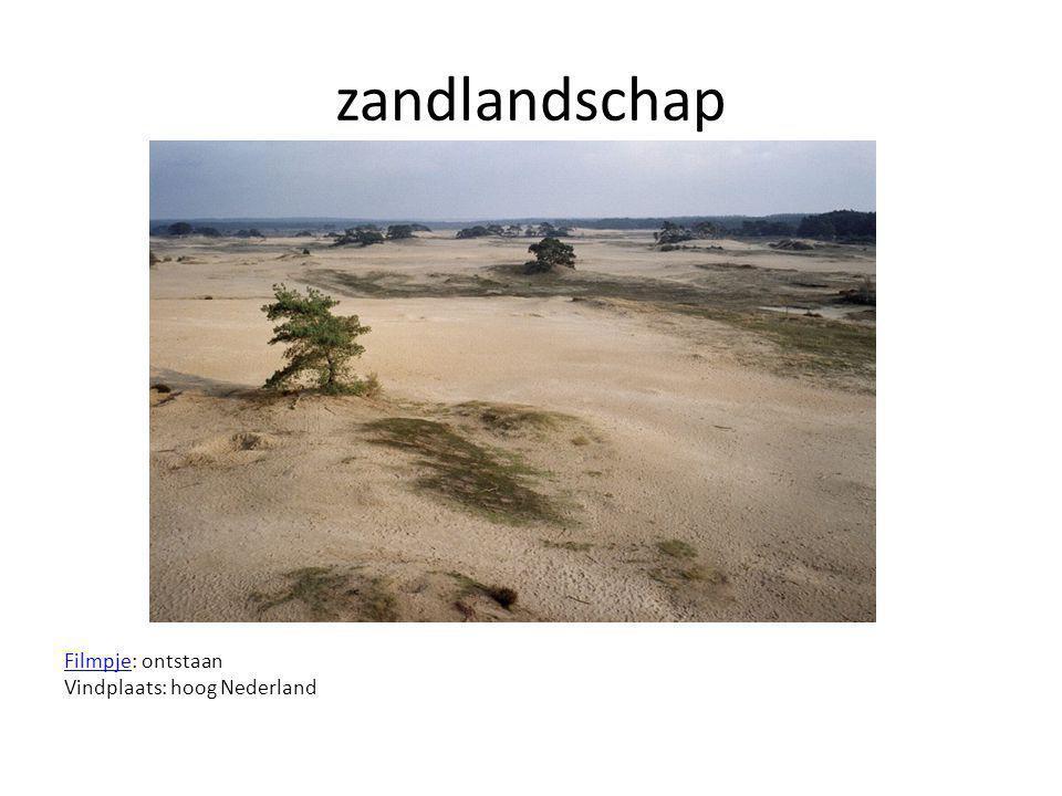 zandlandschap Filmpje: ontstaan Vindplaats: hoog Nederland
