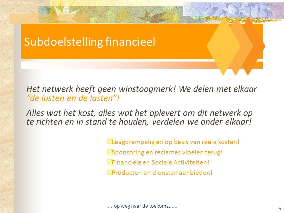 Subdoelstelling financieel