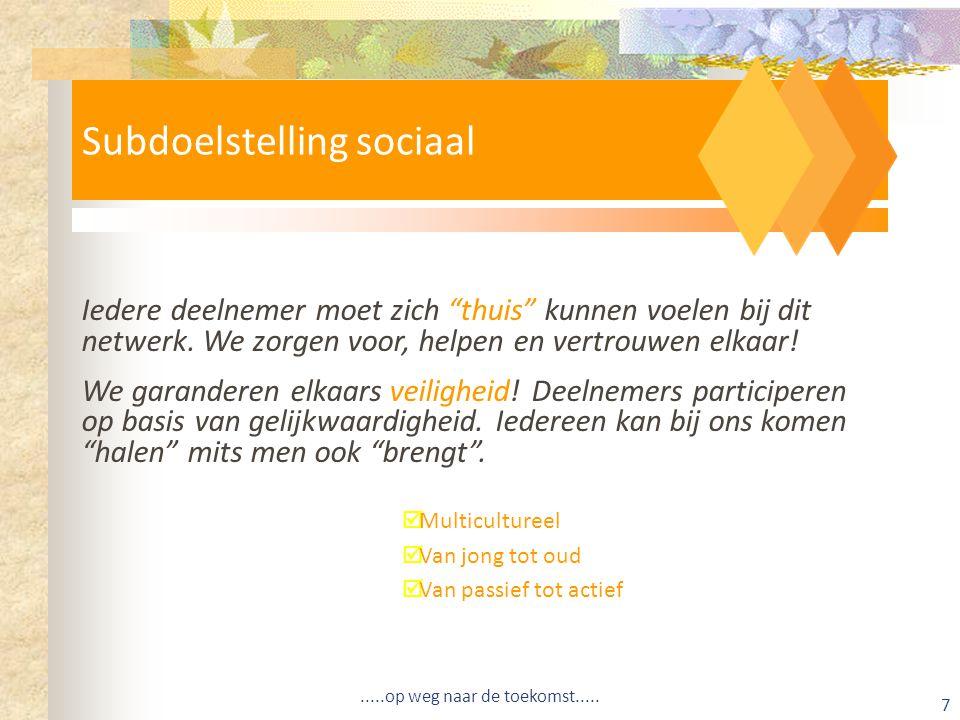 Subdoelstelling sociaal