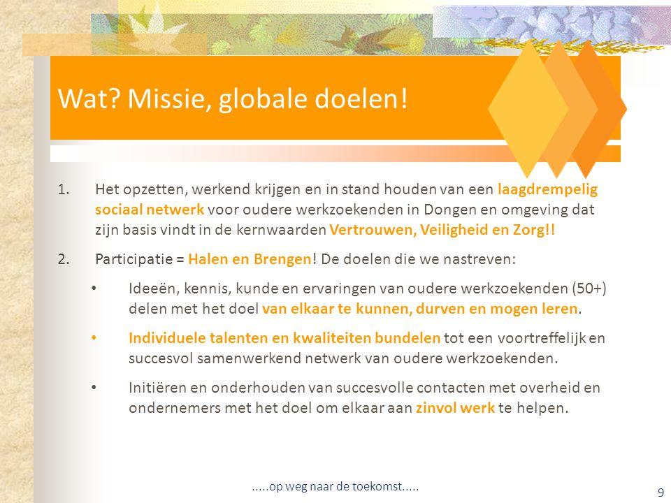 Wat Missie, globale doelen!