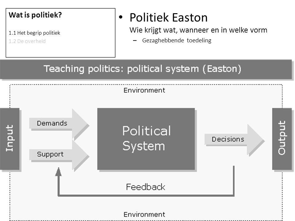 Politiek Easton Wie krijgt wat, wanneer en in welke vorm