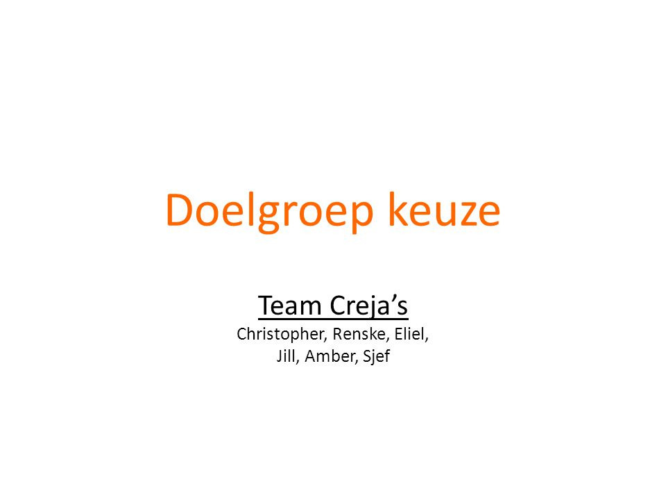 Team Creja's Christopher, Renske, Eliel, Jill, Amber, Sjef