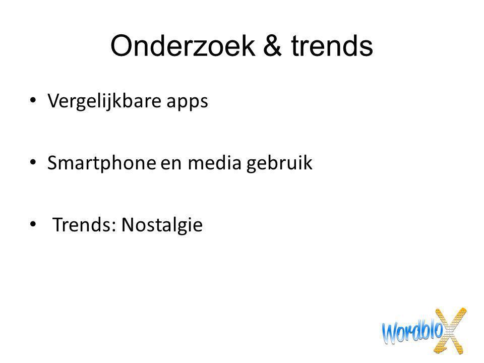 Onderzoek & trends Vergelijkbare apps Smartphone en media gebruik
