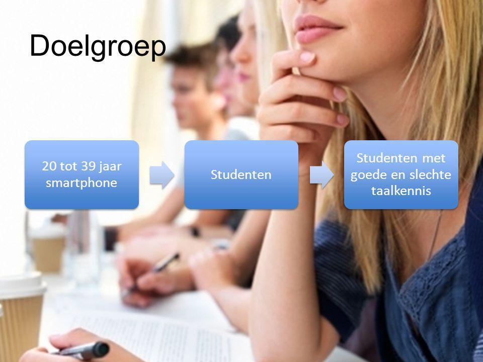 Studenten met goede en slechte taalkennis