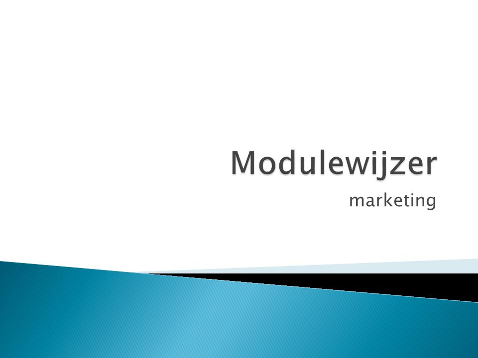 Modulewijzer marketing