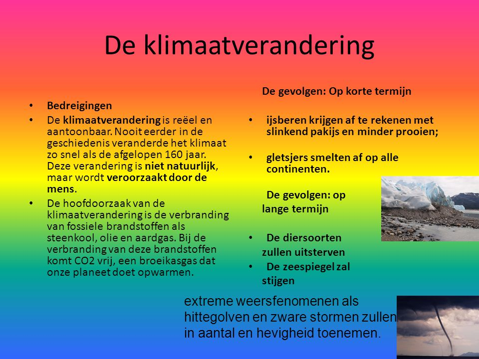 De klimaatverandering