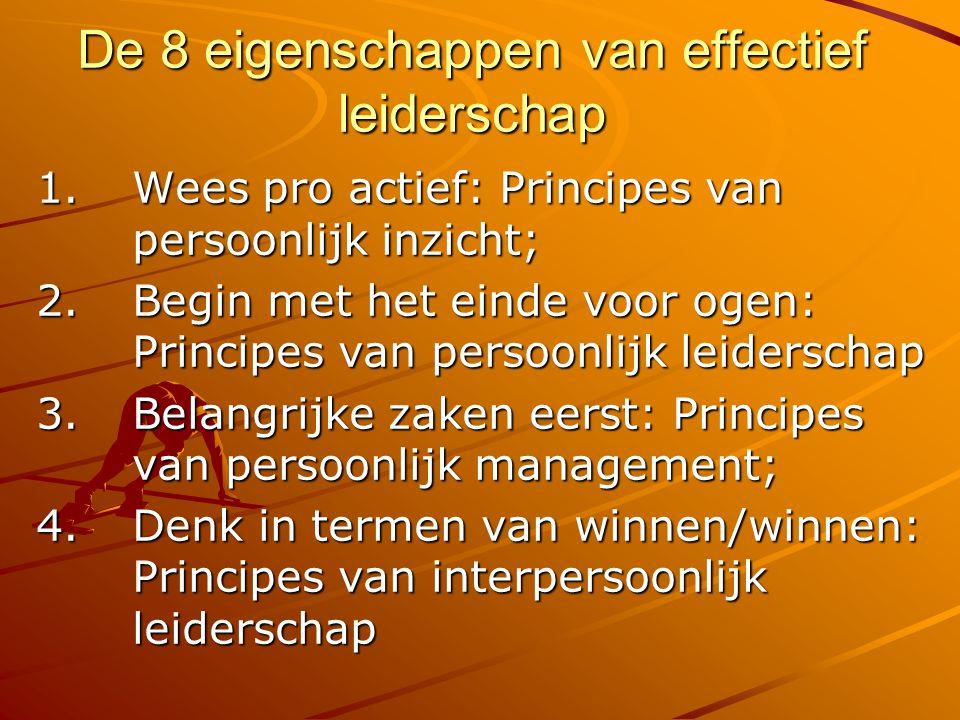De 8 eigenschappen van effectief leiderschap