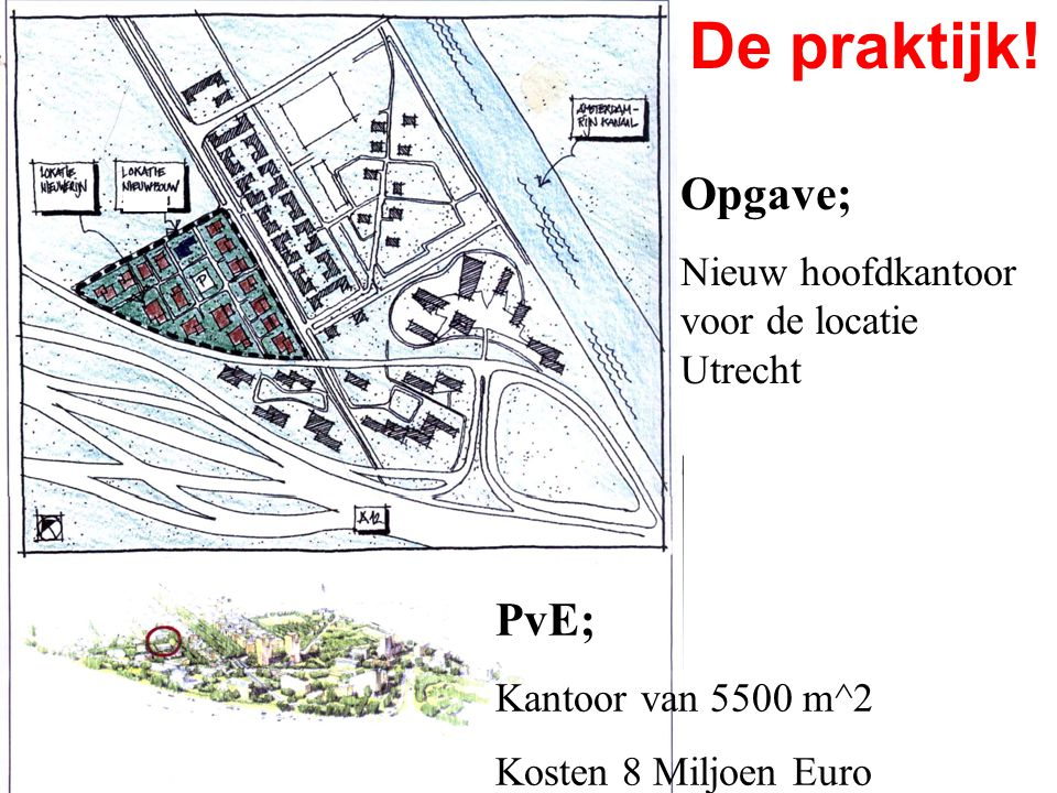 De praktijk! Opgave; PvE; Nieuw hoofdkantoor voor de locatie Utrecht