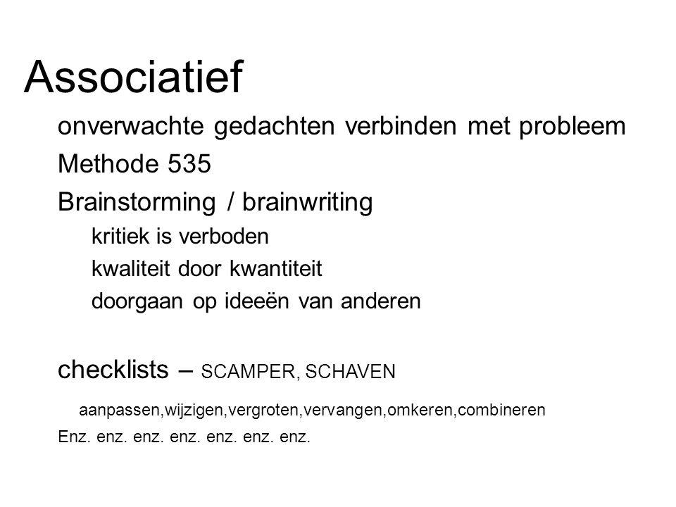Associatief onverwachte gedachten verbinden met probleem Methode 535