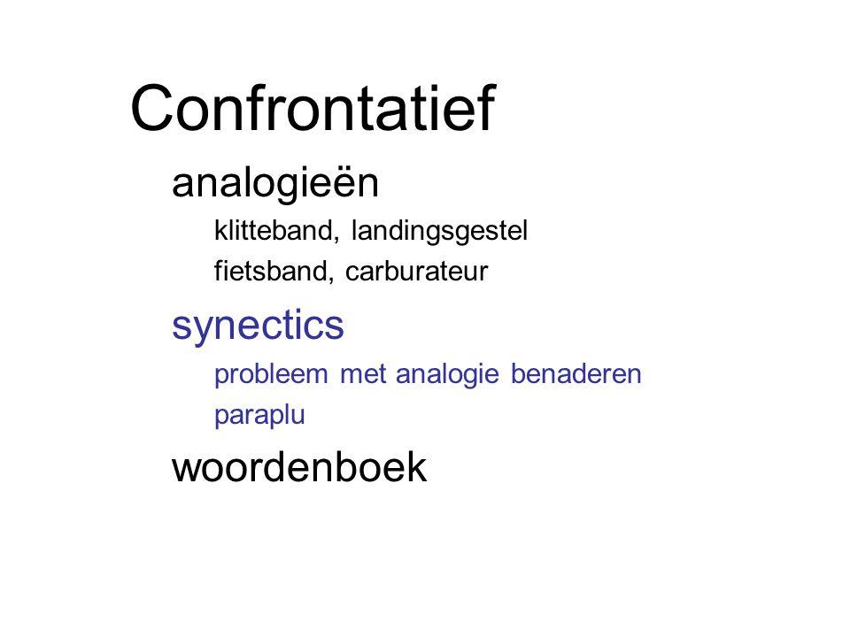 Confrontatief analogieën synectics woordenboek