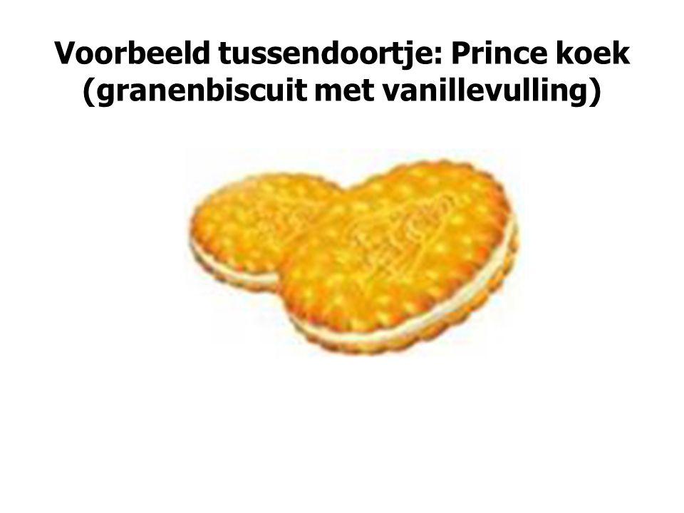 Voorbeeld tussendoortje: Prince koek (granenbiscuit met vanillevulling)