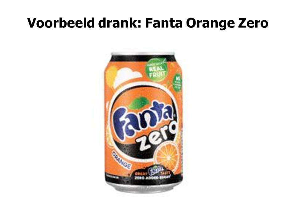 Voorbeeld drank: Fanta Orange Zero