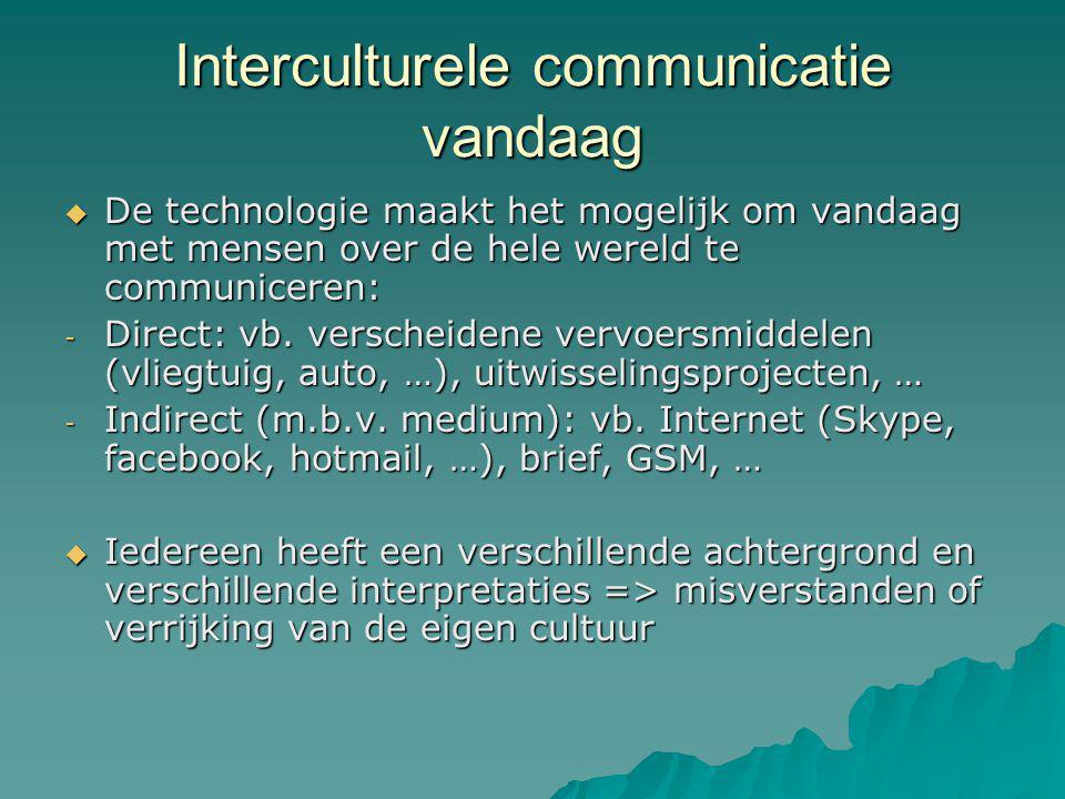 Interculturele communicatie vandaag