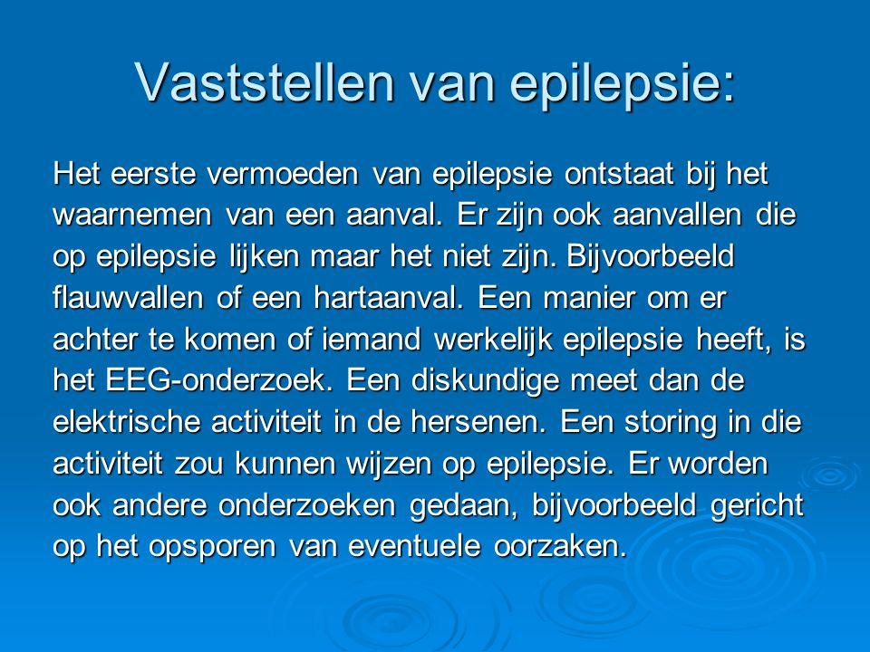 Vaststellen van epilepsie: