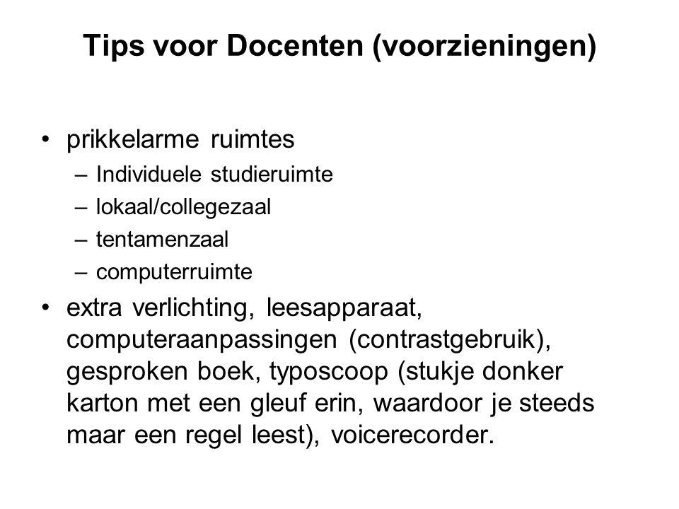 Tips voor Docenten (voorzieningen)
