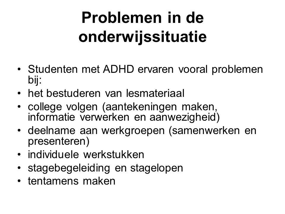 Problemen in de onderwijssituatie