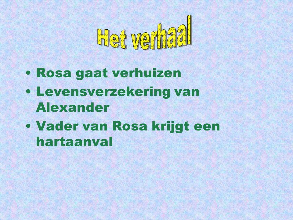 Het verhaal Rosa gaat verhuizen Levensverzekering van Alexander