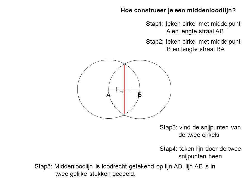 Hoe construeer je een middenloodlijn
