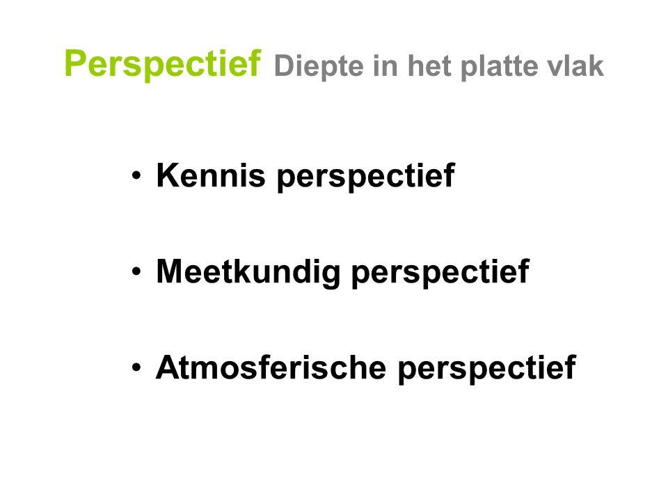 Perspectief Diepte in het platte vlak