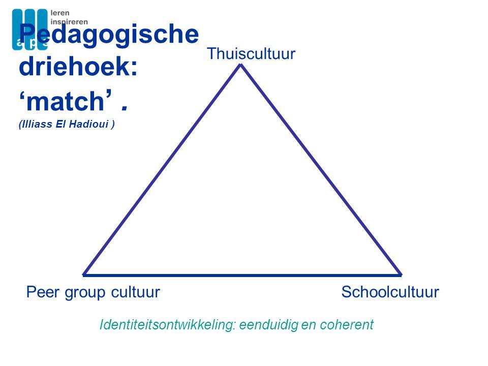 Pedagogische driehoek: 'match' .