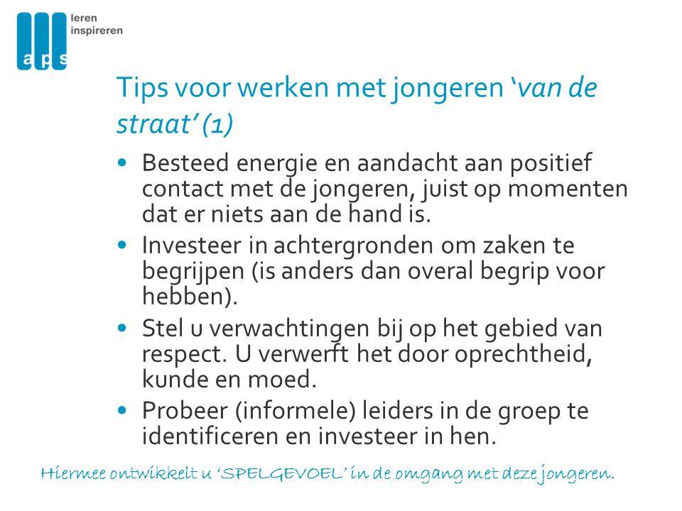 Tips voor werken met jongeren 'van de straat' (1)