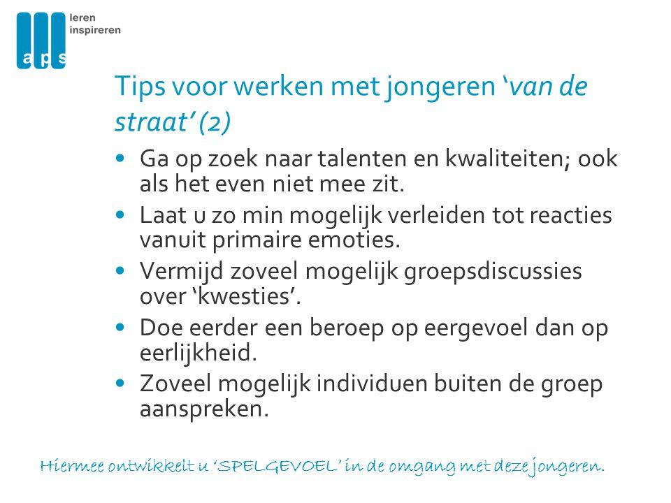 Tips voor werken met jongeren 'van de straat' (2)