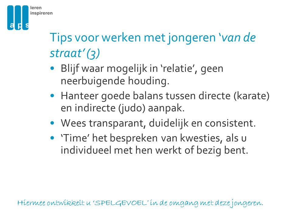 Tips voor werken met jongeren 'van de straat' (3)