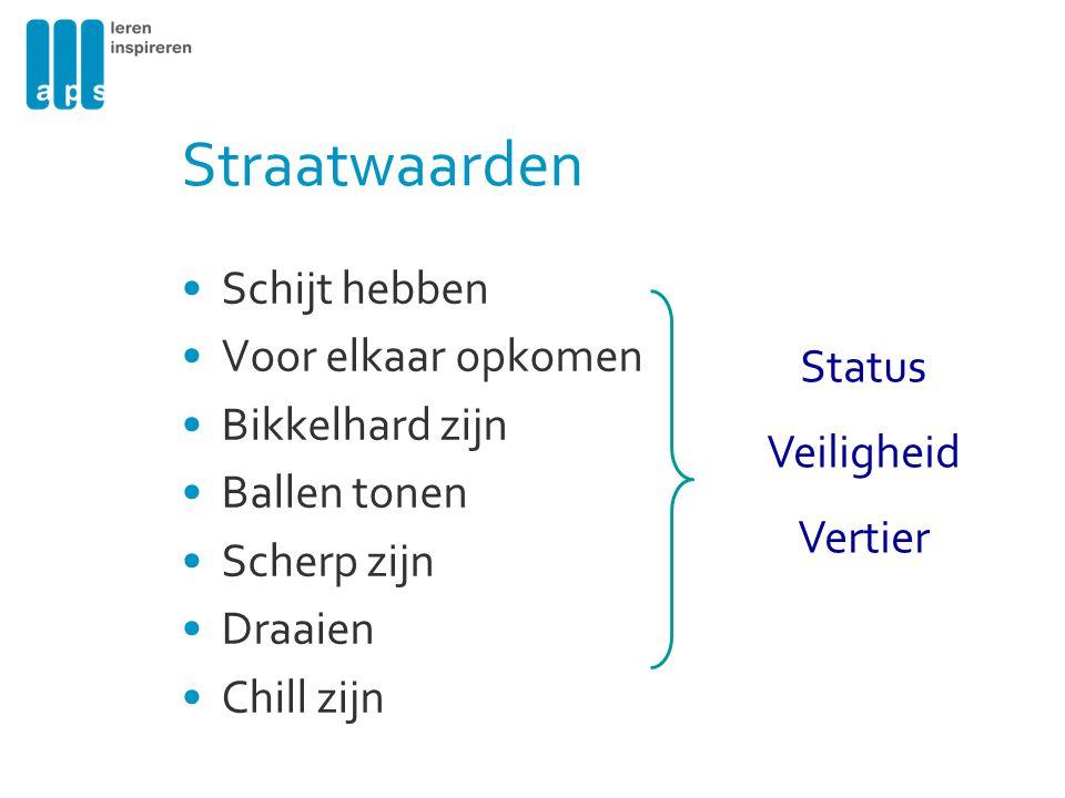 Straatwaarden Schijt hebben Voor elkaar opkomen Bikkelhard zijn Status