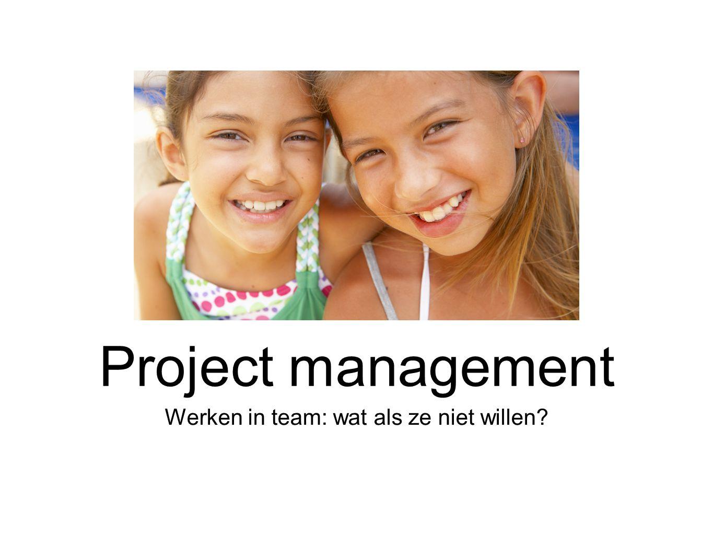 Werken in team: wat als ze niet willen