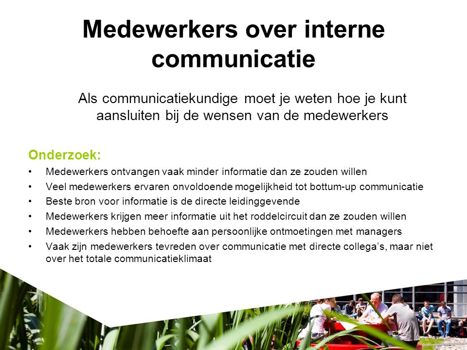 Medewerkers over interne communicatie