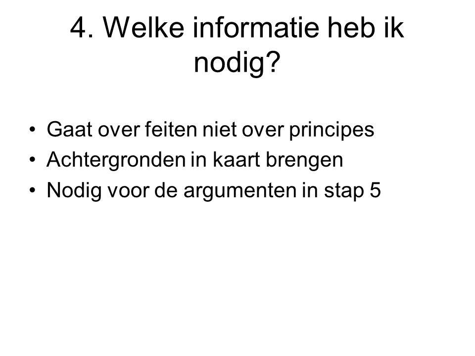 4. Welke informatie heb ik nodig