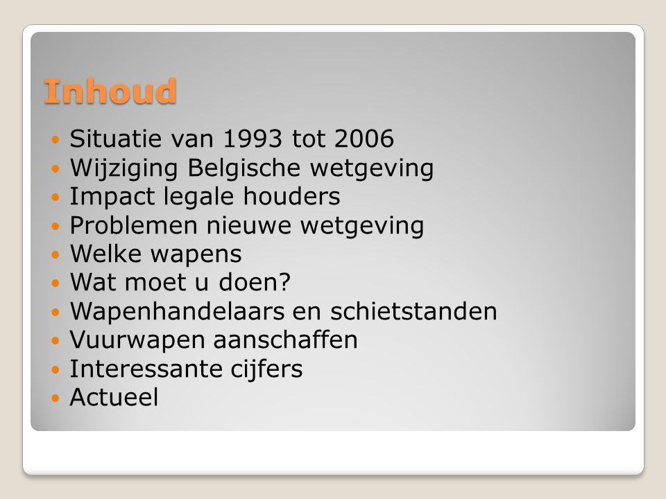 Inhoud Situatie van 1993 tot 2006 Wijziging Belgische wetgeving