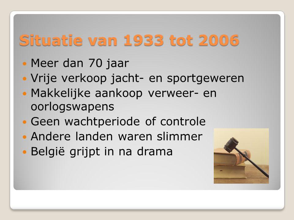 Situatie van 1933 tot 2006 Meer dan 70 jaar