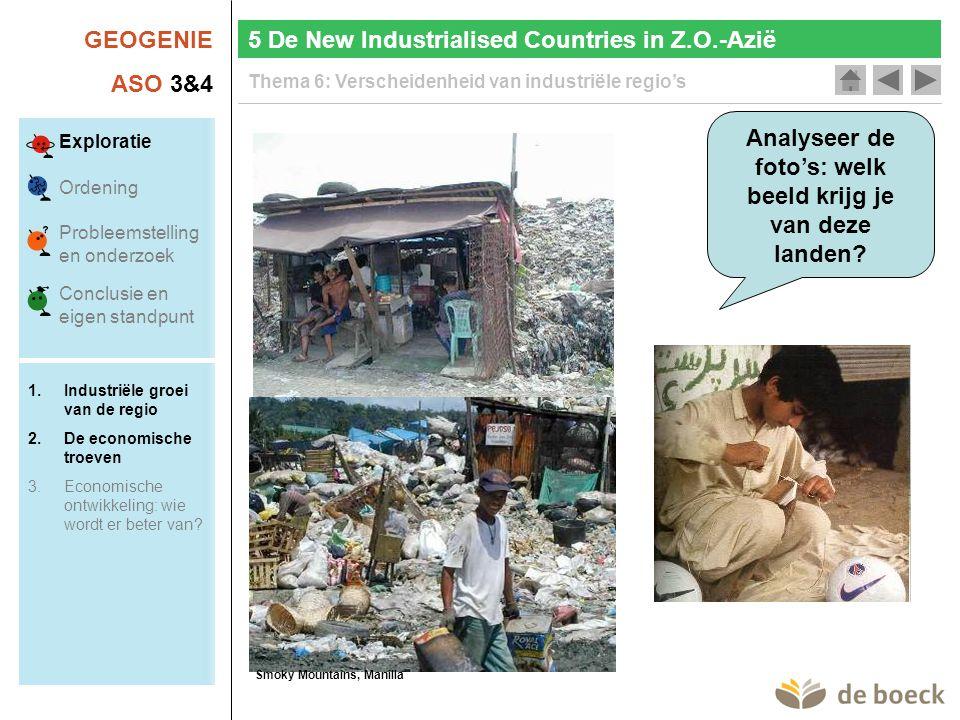 Analyseer de foto's: welk beeld krijg je van deze landen