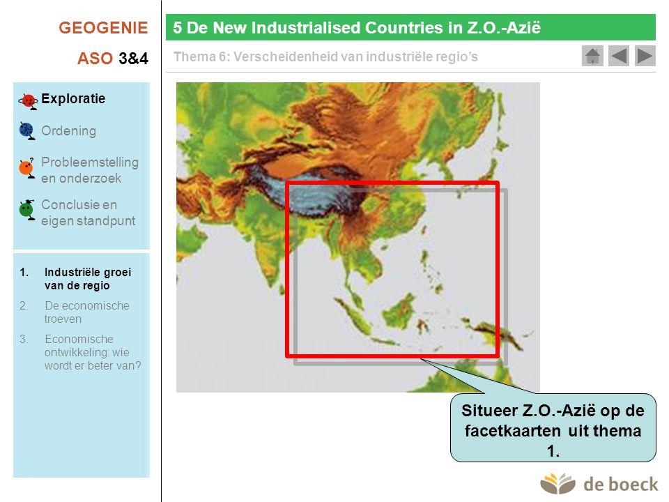 Situeer Z.O.-Azië op de facetkaarten uit thema 1.