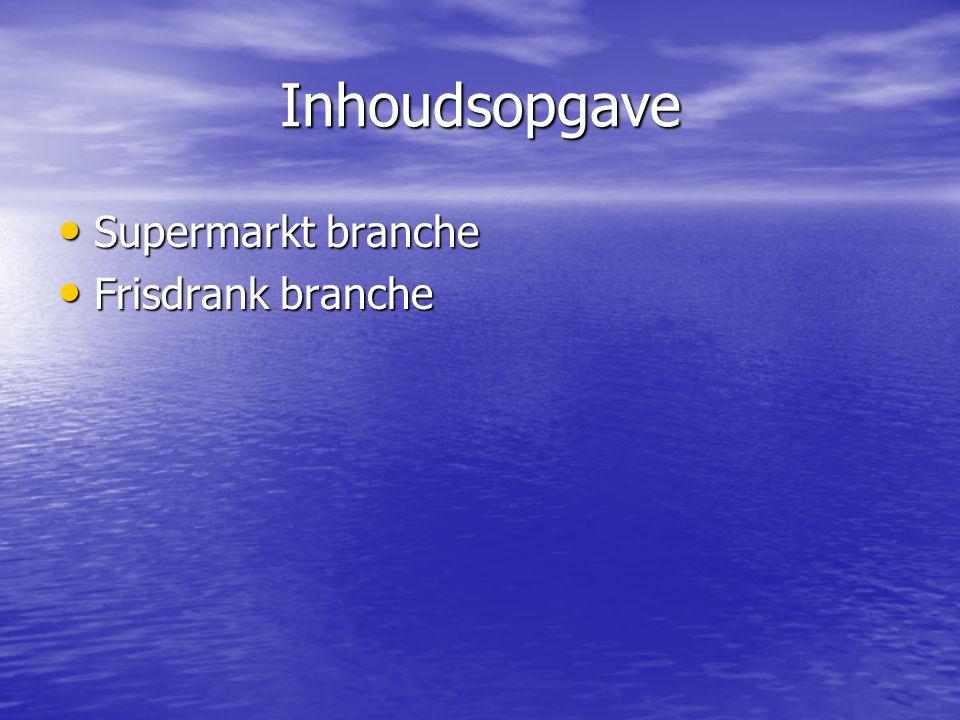 Inhoudsopgave Supermarkt branche Frisdrank branche