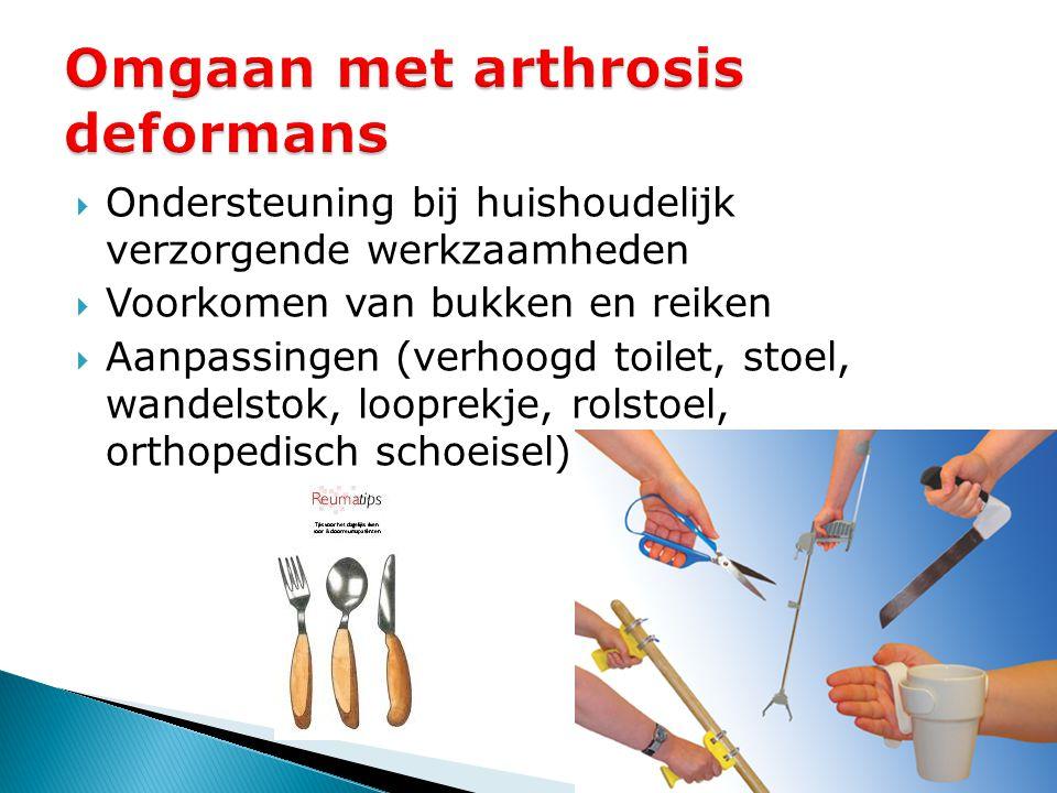Omgaan met arthrosis deformans