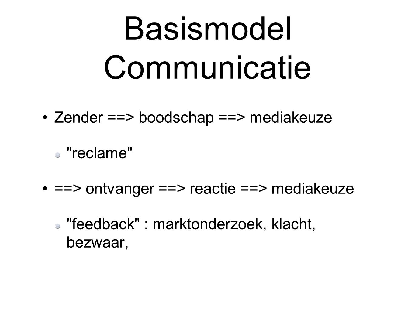 Basismodel Communicatie