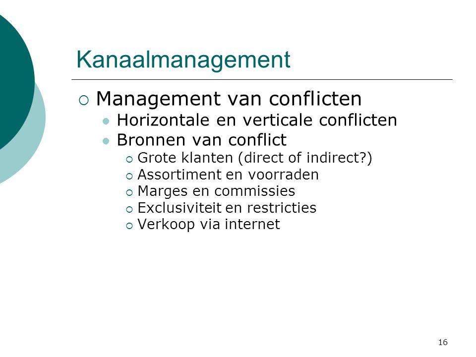 Kanaalmanagement Management van conflicten
