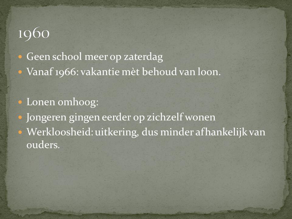 1960 Geen school meer op zaterdag