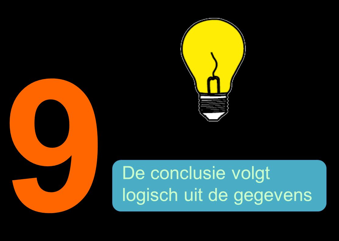 9 De conclusie volgt logisch uit de gegevens 18