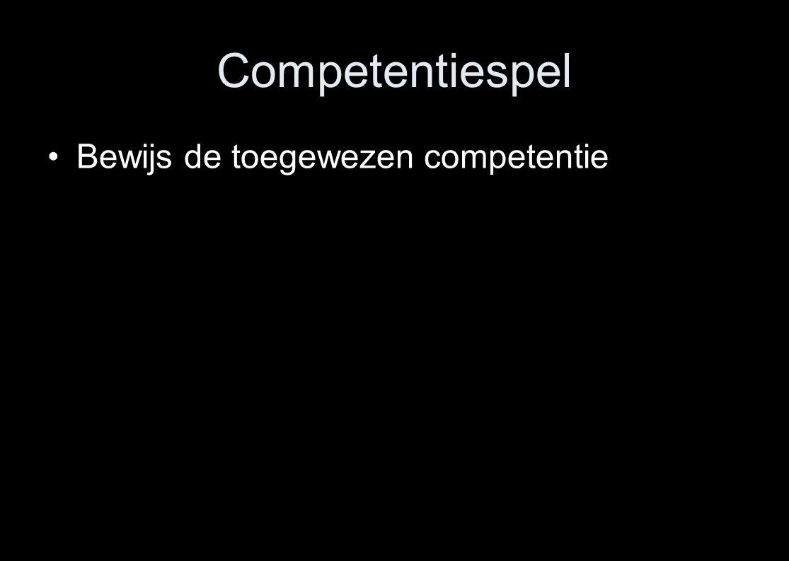 Competentiespel Bewijs de toegewezen competentie